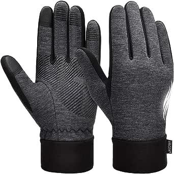 VBIGER Guanti Uomo Guanti Invernali Warm Touch Screen Gloves Guanti da Ciclismo Aantiscivolo