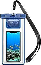 Mpow IPX8 Wasserdichte Handyhülle für Tauchen Schnorcheln, Wasserfeste Handytasche, Beutel Tasche, mit Bluetooth-Kontroller APP zum Aufnehmen für iPhone X/ XR/ XS/ XS MAX/8/8 Plus, Samsung Galaxy S9 / S9 Plus, Sony, HTC, Google Pixel