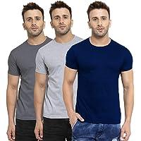 Scott International Men's Pack of 3 Biowash Round Neck T-Shirts