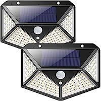 Solarlampen für Außen,【270 ° Vierseitige Beleuchtung- 2200mAh】iPosible 100 LED Solarleuchte mit Bewegungsmelder Solar…