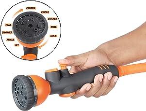HOKIPO® 9 Pattern High Pressure Garden Hose Nozzle Water Spray Gun