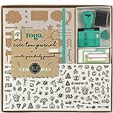 Draeger by Toga - Kit Bullet Journal - Kit Complet pour Créer son premier Bullet Journal - 1 Cahier à Petits Pois + 1 Pochoir