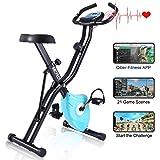 Profun Esercizio di Bicicletta Fitness Bici Spinning Bike Cyclette per Casa 2 in 1, Cyclette con Resistenza Magnetica…