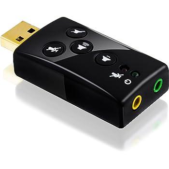 CSL–USB 7.1scheda audio esterna, Surround Sound 3D dinamica, funzionale chiavi incluse