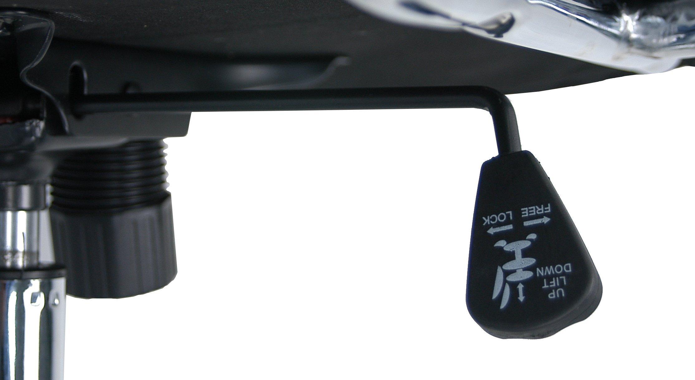 La Silla Española Casares Silla de Oficina Director con Reposabrazos, Piel Sintética, Negro, 52x50x126 cm