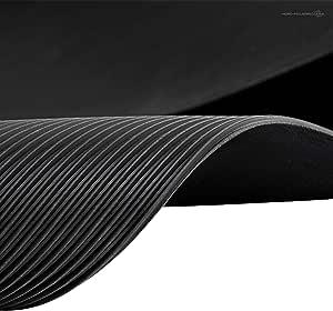 1m Feinriefenmatte 1 4 X 0 72m Stärke 3mm Schwarz Baumarkt