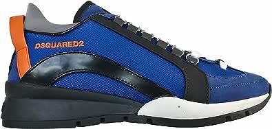 Dsquared Scarpe Uomo Lace-up Low Top Sneaker 551 SNM0505 11702720 M132 Blu