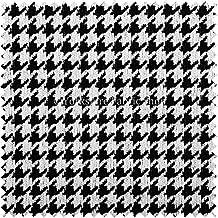 Exclusiva tela color negro color blanco Compruebe perro diente patrón geométrico suave tejido hecho muebles de tapicería tela Ideal para muebles Material