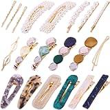 20Pcs Pearl Hair Clips - Fashion Pearls Hair Barrettes Sweet Artificial Macaron Acrylic Resin Barrettes Hairpins for…