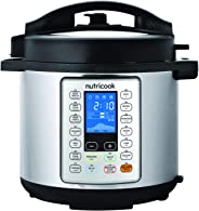 Nutricook Smart Pot Prime by Nutribullet - 10 in 1 Multi-use Electric Pressure Cooker with Steam Basket, 6 Liters, 1000 Watt