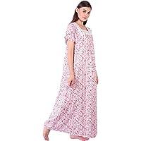 Himashu Handlooms Women Cotton Printed Maxi Night Gown