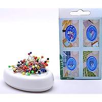 Trimz Magnetic Pin Cushion, White, 12 x 8 x 3 cm