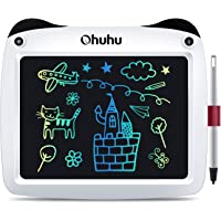 """Ohuhu 9"""" Electronic Drawing Doodle Board, LCD Digital Handwriting Pad for Kids Children at Home and School, Scribble and Play Learning Boards (White)"""