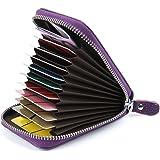 Credit Card Holders Women Ladies Leather Credit Card Wallets for Women Credit Card Holder Women RFID Protector (Purple)