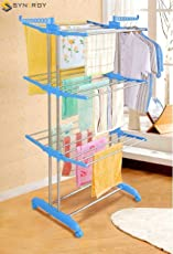 Synergy - Heavy Duty Stainless Steel Double Pole Foldable Cloth Dryer/Clothes Drying Stand with Lifetime Warranty (SY-CS5.3)