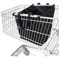 achilles Easy-Shopper Alu, Faltbare Einkaufswagentasche, Einkaufstasche passend für alle gängigen Einkaufswagen, schwarz…