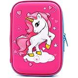 Astuccio rigido con unicorno volante goffrato – grande scatola per la scuola con scomparti – borsa per cancelleria per bambin