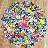 SHINE-CO 100Pcs adesivo PVC Impermeabile Sticker per Auto, Moto, Bicicletta, Laptope e Bagaglio (100)