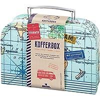 moses 82440 Fernweh Koffer Allzweckbox | Für Geldgeschenke und kleine Reise-Utensilien, blau, One Size