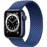 Fengyiyuda Correa Solo Loop Trenzada Compatible con Correa Apple Watch 38/40/42/44mm,Soft Sport Reemplazo Elástica de Correa
