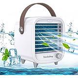 Nicehedtop Mini Enfriador Aire Acondicionado Portátil USB Móvil Escritorio,Mini Aire Acondicionado Portátil con Hielo Humidif