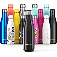 Proworks Stainless Steel Water Bottle, BPA Free Vacuum Insulated Metal Water Bottle for 12 Hours Hot & 24 Hours Cold…