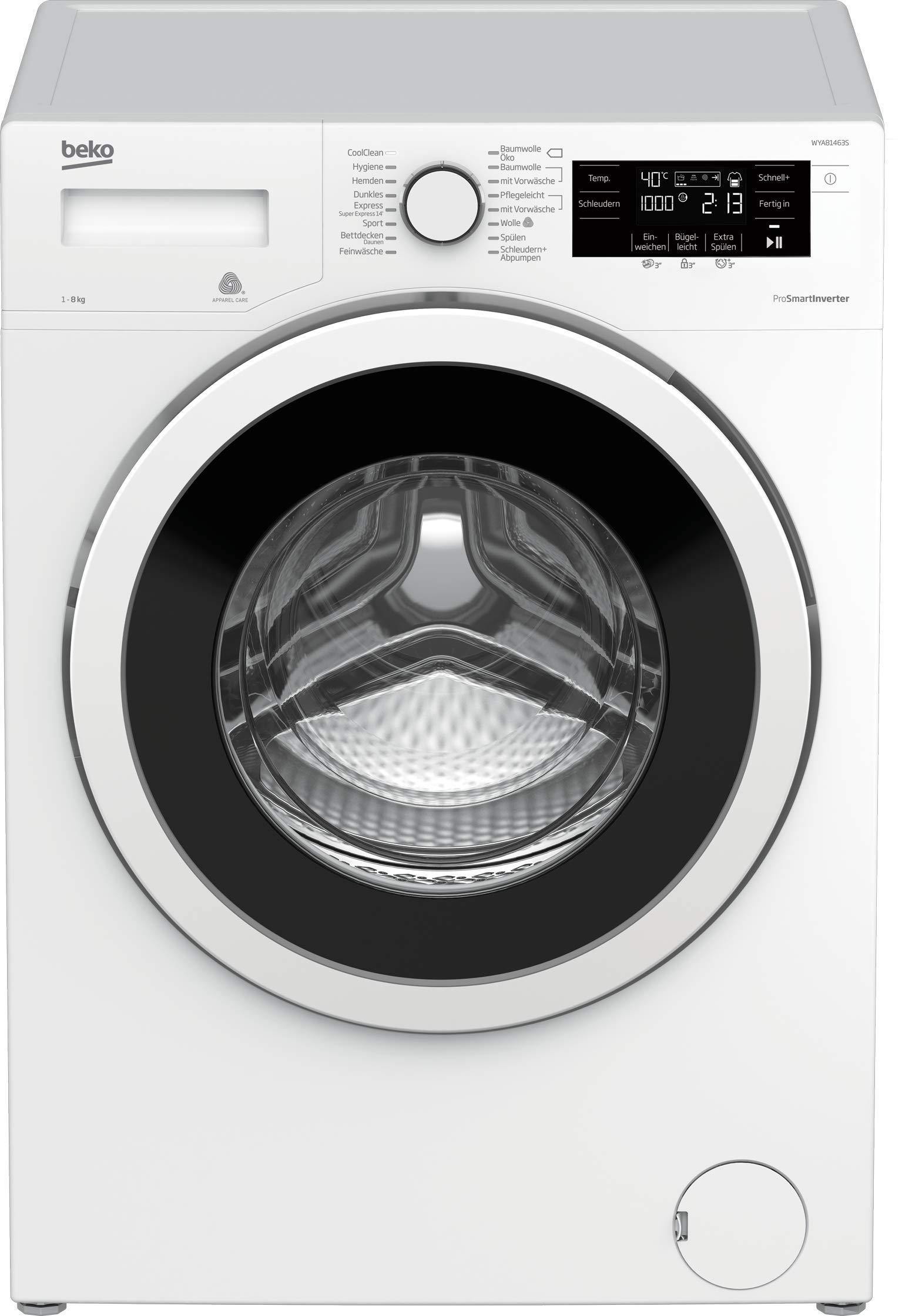 Beko WYA81463S Waschmaschine mit 8 kg Füllmenge, LC-Display, Startzeitvorwahl