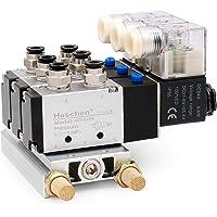 Heschen Électrovanne pneumatique triple 4V210–08 DC 24 V PT1/4 5 voies 2 positions collecteur silencieux et kit de…