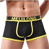Kwelt Men's Sexy Underwear Briefs Cotton Sport Trunks Boxer Shorts Soft Ultra-Thin Athletic Knickers Underpants Nightwear