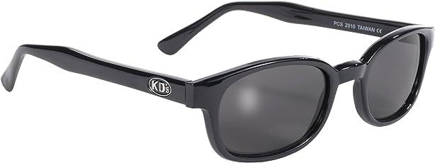 Pacific Coast Original KD's Biker Sunglasses (Black Frame/Smoke Lens)