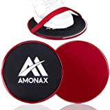 Amonax Sliders Fitness, Core Sliders, Esercizio cursori, Dischi di Scorrimento, Disco Scorrevole, Doppio Lato per Esercizi di