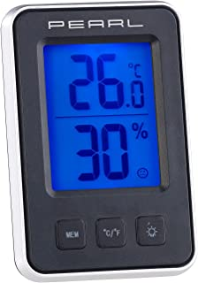 PEARL Raumthermometer: Digitales Thermometer/Hygrometer Mit Großem,  Beleuchtetem LCD Display (Thermo