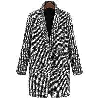 ZatRuiZE Cappotto Donna Elegante Soprabito Lungo Taglia Grande Giacca Calda Invernale Grigio Cappotti
