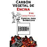 Carbón Vegetal Ecologico de Encina, para Barbacoas, Procedente de la Poda de Dehesas, Alto Poder calorífico, Larga Duración,