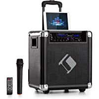 auna Moving 80 - PA-Anlage, Karaoke-Anlage, 100 W max, XMR-Bass-Technology, VHF-Mikro, USB, SD-Slot, Bluetooth, AUX…