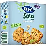 Hero Solo Biscottini Animaletti, 100% Biologico, Biscotti senza zuccheri aggiunti e senza olio di palma, dai 12 mesi in su -