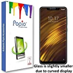 POPIO Tempered Glass Screen Protector For Xiaomi Poco f1 Full Screen Coverage With Easy Installation Kit