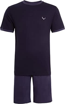 Mens Pyjama Set Short Sleeve Top & Shorts