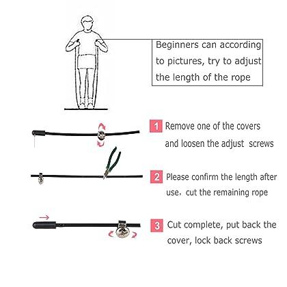 CIVAH Kabel springseil Speed Seil Hochwertige Rutschfeste Design kostenlose Trag