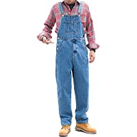 X-xyA Men's Casual Denim Bib Overalls Dungarees Classic Work Jeans Jumpsuits,Light Blue,3XL