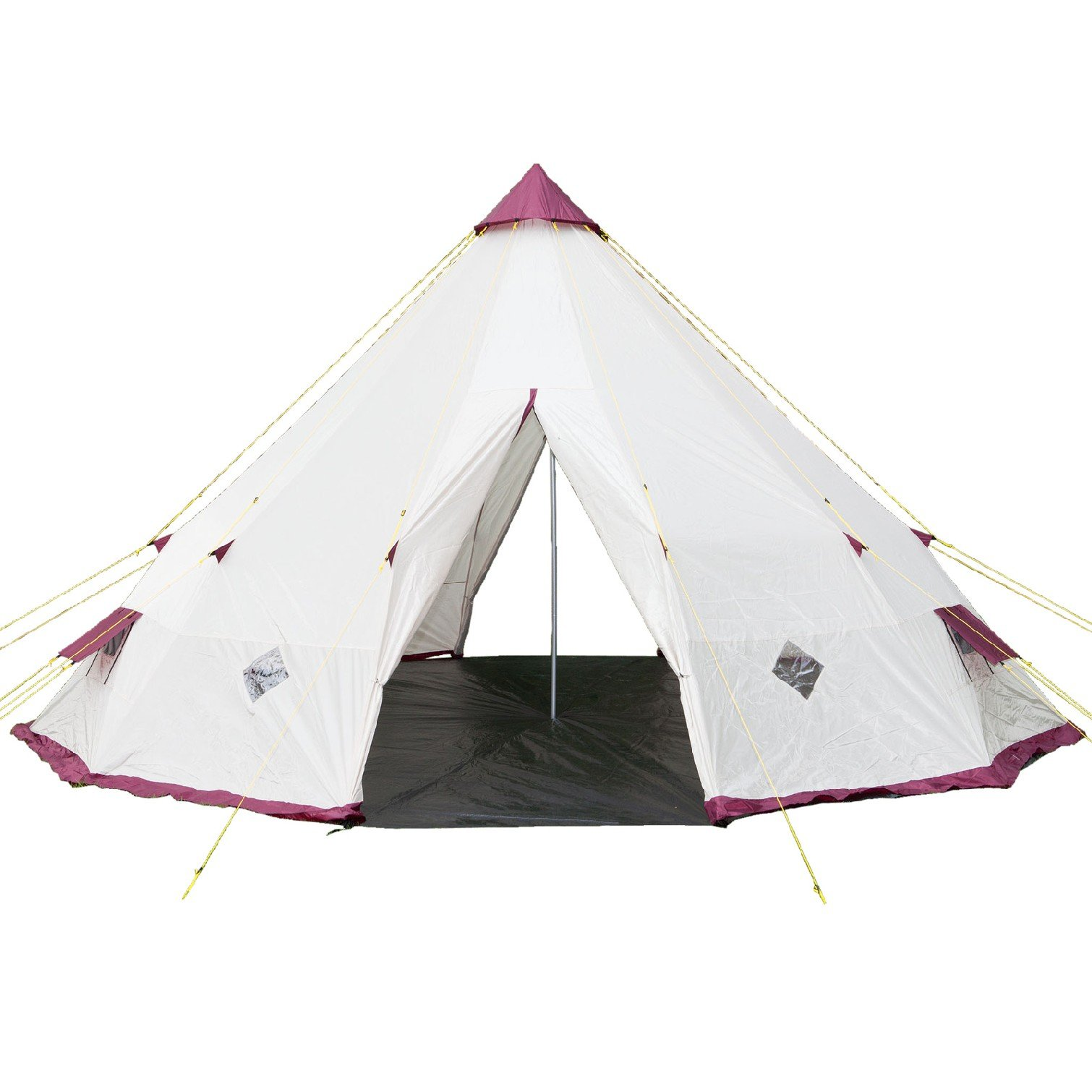 Large Skandika TeePee Tent Tipi 12 Person White C&ing Picnic Party Festival  sc 1 st  eBay & Large Skandika TeePee Tent Tipi 12 Person White Camping Picnic ...