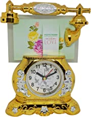 Kabello Diwali Return Gift for Friends, Designing Clock with Telephone Design Photo Frame, Pack of 1