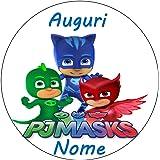 PJ Masks - Héroes en pijama - Obleas personalizables para ...