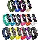 Mardozon 16 Colores Correas para Xiaomi Mi Band 3 / Mi Band 4 Silicona Pulsera de Recambio Brazalete Coloridos Reemplazo