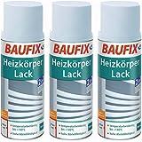 3 x Baufix radiatorlak 400 ml verwarming lak wit wit