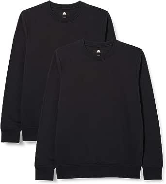 Hikaro Men's Longsleeve Crew Neck Sweatshirt, Pack of 2