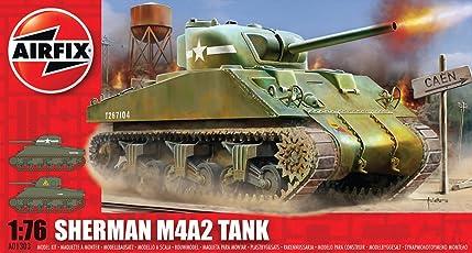 Airfix A01303 1:76 Scale Sherman M4 Mk1 Tank Military Vehicles Classic Kit Series 1