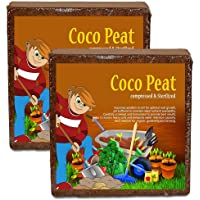 Nalla Cocopeat Block | Agropeat Block 10 Kgs (Pack of 2)- Expands Up to 150 litres of Coco Peat Powder for All Seeds and…