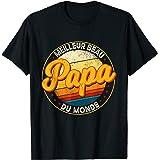 Papa Tee Shirt Fête Des Pères Meilleur Beau Papa Du Monde T-Shirt