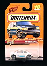 VW CONCEPT 1 * WHITE * Top Class Series 4 MATCHBOX 1999 Basic Die-Cast Vehicle (#18 of 100)